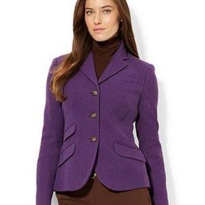 Lauren Ralph Lauren Purple Modern Fit Wool Blazer